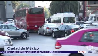 Bloqueo en Bucareli afecta la circulación en zona centro de la CDMX