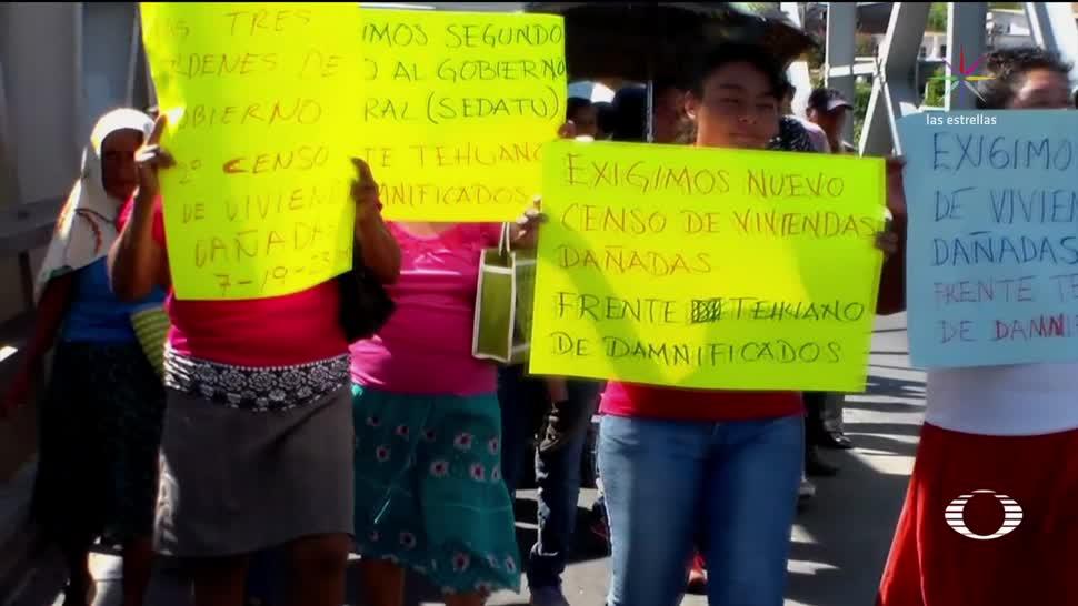 Damnificados en Oaxaca exigen nuevo censo