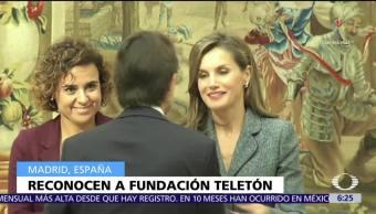 Fundación Teletón México recibe Premio Reina Letizia en España