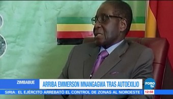 Arriba a Zimbabue Emmerson Mnangagwa tras autoexilio