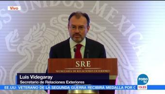 Videgaray encabeza reunión del cuerpo diplomático acreditado en México