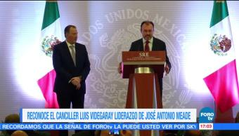 Canciller Videgaray destaca liderazgo de Meade