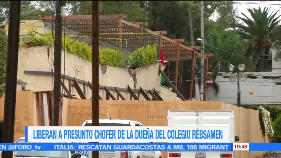 Liberan a presunto chofer de la dueña del colegio Rébsamen