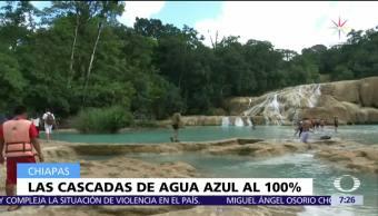 Se recupera afluente de las cascadas de Agua Azul, en Chiapas