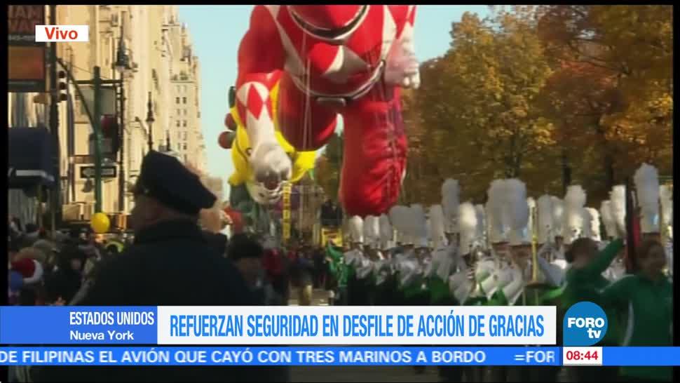 Refuerzan la seguridad en Desfile de Acción de Gracias en NY