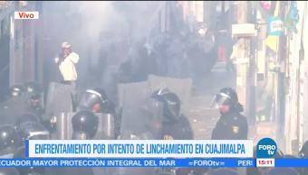 Intento de linchamiento en Cuajimalpa desata enfrentamiento