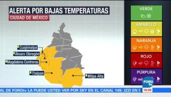 CDMX activa alerta por bajas temperaturas