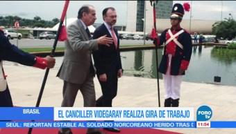 Videgaray realiza visita de trabajo en Brasil, se reúne con Michel Temer
