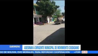 Asesinan a dirigente municipal de Movimiento Ciudadano en Guerrero