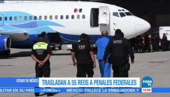 Edomex traslada a 50 reos a penales federales