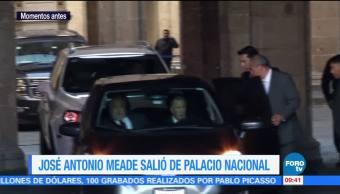 José Antonio Meade salió de Palacio Nacional esta mañana