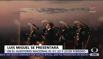 Anuncian fechas de conciertos de Luis Miguel en la CDMX
