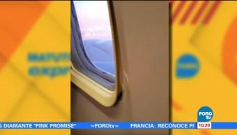 Extra Extra: Pasajero 'abre' la ventanilla de un avión