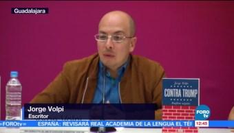 Jorge Volpi presenta 'Contra Trump' en la FIL Guadalajara