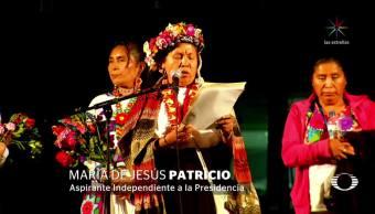 La aspirante indígena a la Presidencia, Marichuy recorre Ciudad Universitaria