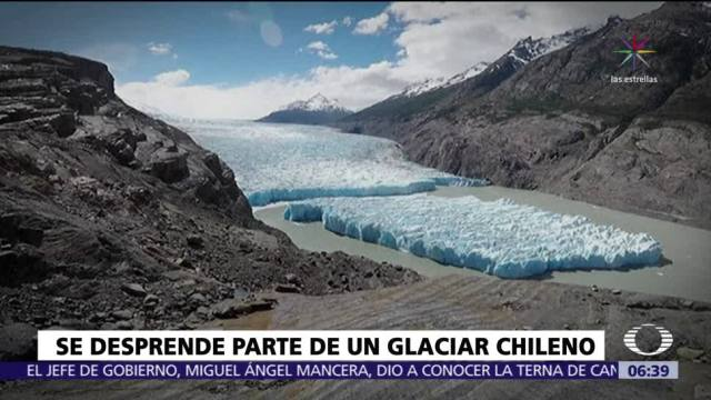 Se desprende hielo del Glaciar Grey de Chile