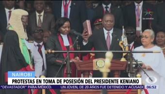 Protestan en Kenia por toma de posesión del presidente Uhuru Kenyatta