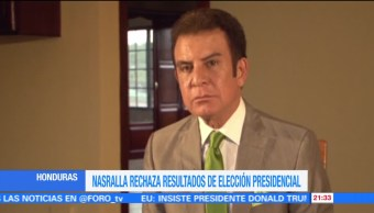 Nasralla rechaza resultados de elección presidencial en Honduras