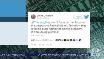Reino Unido condena a Trump por retuitear videos contra musulmanes