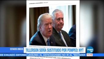 Casa Blanca quiere remplazar a Rex Tillerson, según The New York Times