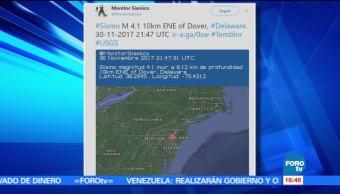 Sismo de magnitud 4.4 se registra en Delaware