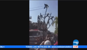 Accidente Durante Acrobacia Jalisco 6 Bomberos Heridos