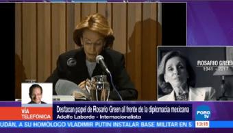 Adolfo Laborde Destaca Papel Rosario Green Frente Diplomacia Mexicana