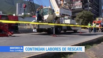 Advierten que hay aún riesgo de derrumbes en fraccionamiento de Monterrey