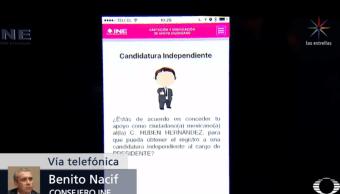 Aplicación del INE para apoyo a aspirantes independientes