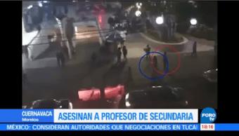 Asesinan Profesor Afuera Bar Cuernavaca Morelos