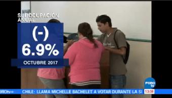 Aumenta Tasa Desocupación Octubre INEGI
