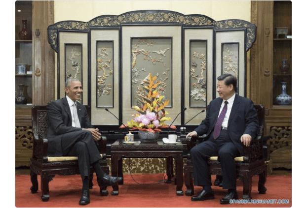Barack Obama y Xi Jinping en China