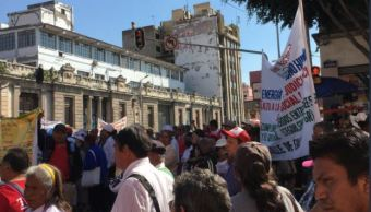 Jueves de caos vial por manifestaciones en zona centro de la CDMX