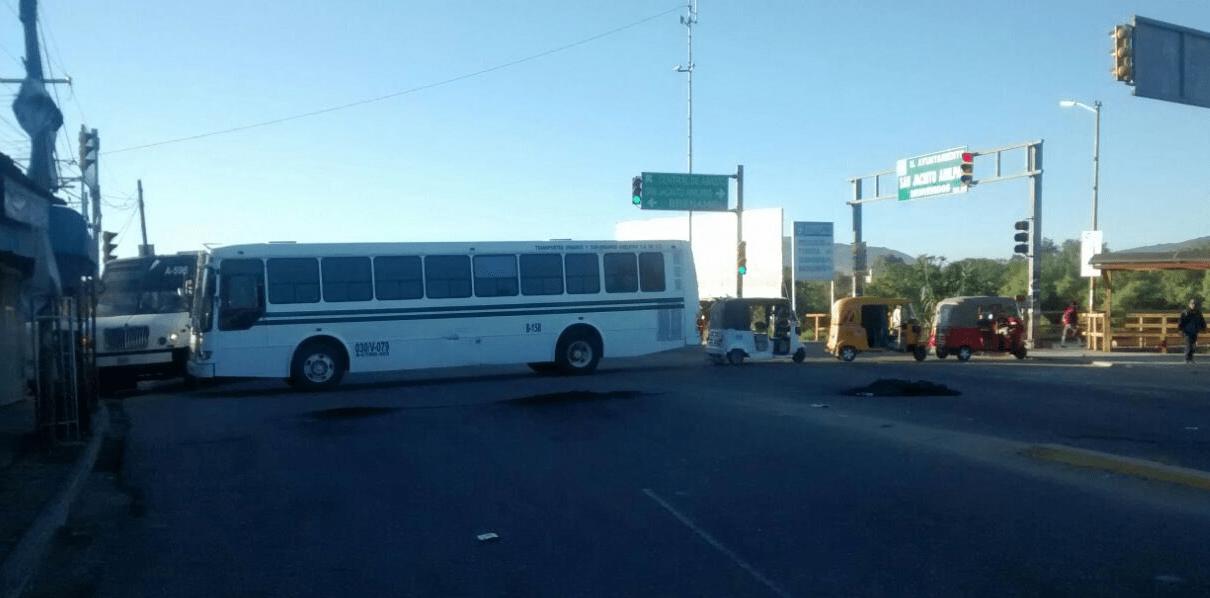 Bloqueos en la ciudad de Oaxaca