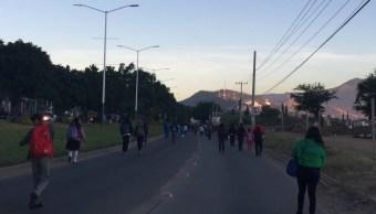 Integrantes de la CTM bloquean Oaxaca; exigen liberación de su líder