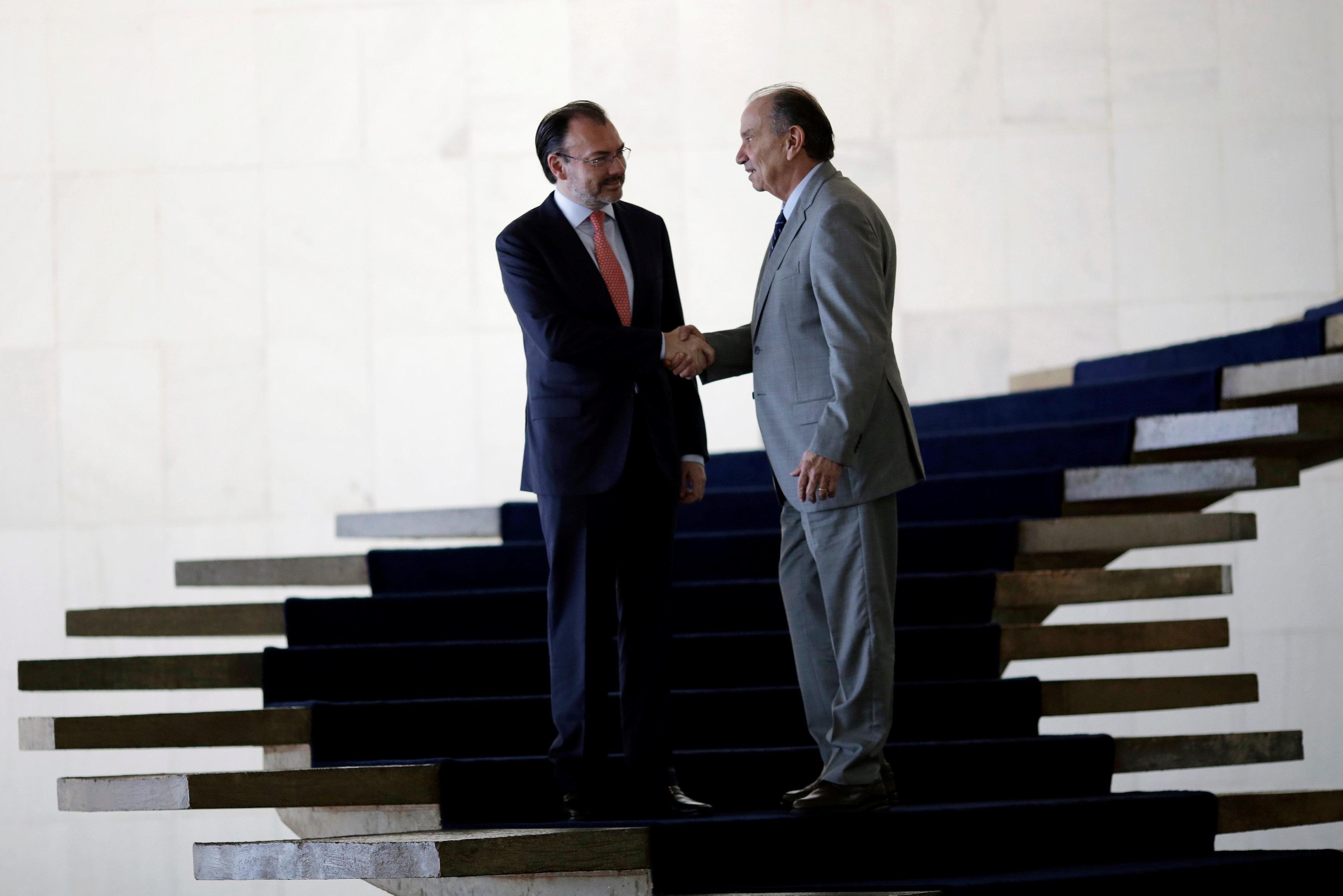 Luis Videgaray realiza visita de trabajo a Brasil
