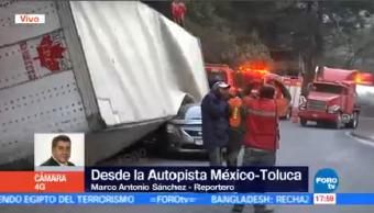 Caja Tráiler Cae Sobre Auto México Toluca