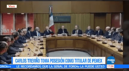 Carlos Treviño Toma Posesión Como Titular Pemex