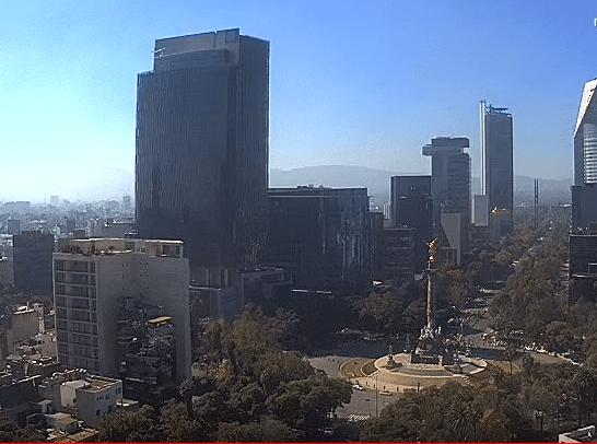 El Valle de México presenta calidad del aire aceptable, debido a que los niveles de los contaminantes se encuentran dentro de la norma (Twitter/ @webcamsdemexico)