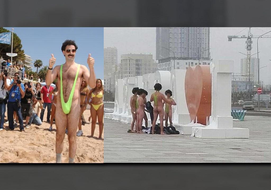 Arrestan A Seis Turistas Por Usar Traje De Baño Borat En