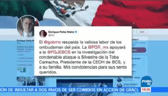 Condena Peña Nieto Asesinato Titular Derechos Humanos Bcs