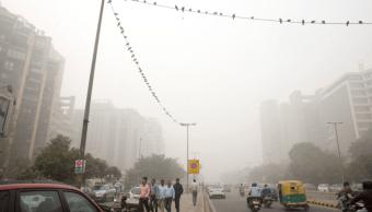 Contaminación atmosférica en Nueva Delhi, India