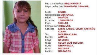 Confirman que restos hallados en Sinaloa son de la niña Dayana