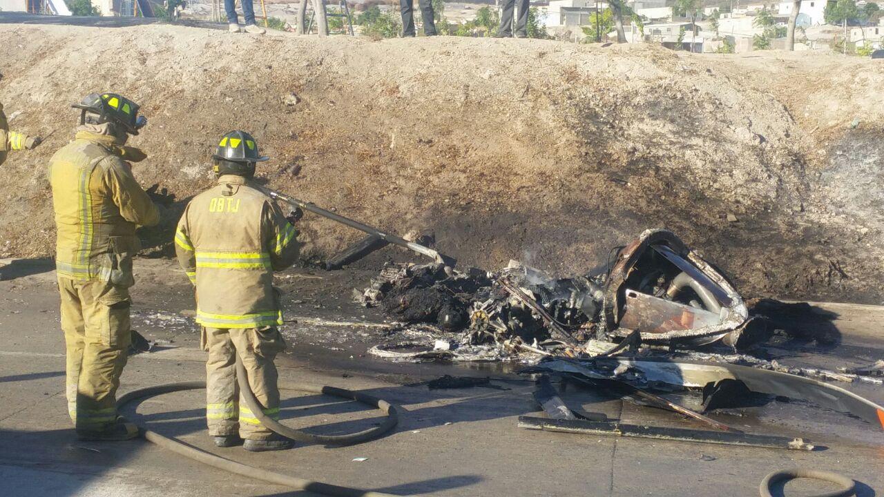Desploma helicóptero de la SSP de Tijuana