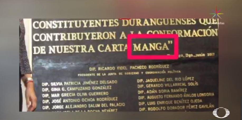 Develan en Congreso de Durango placa conmemorativo con error ortográfico