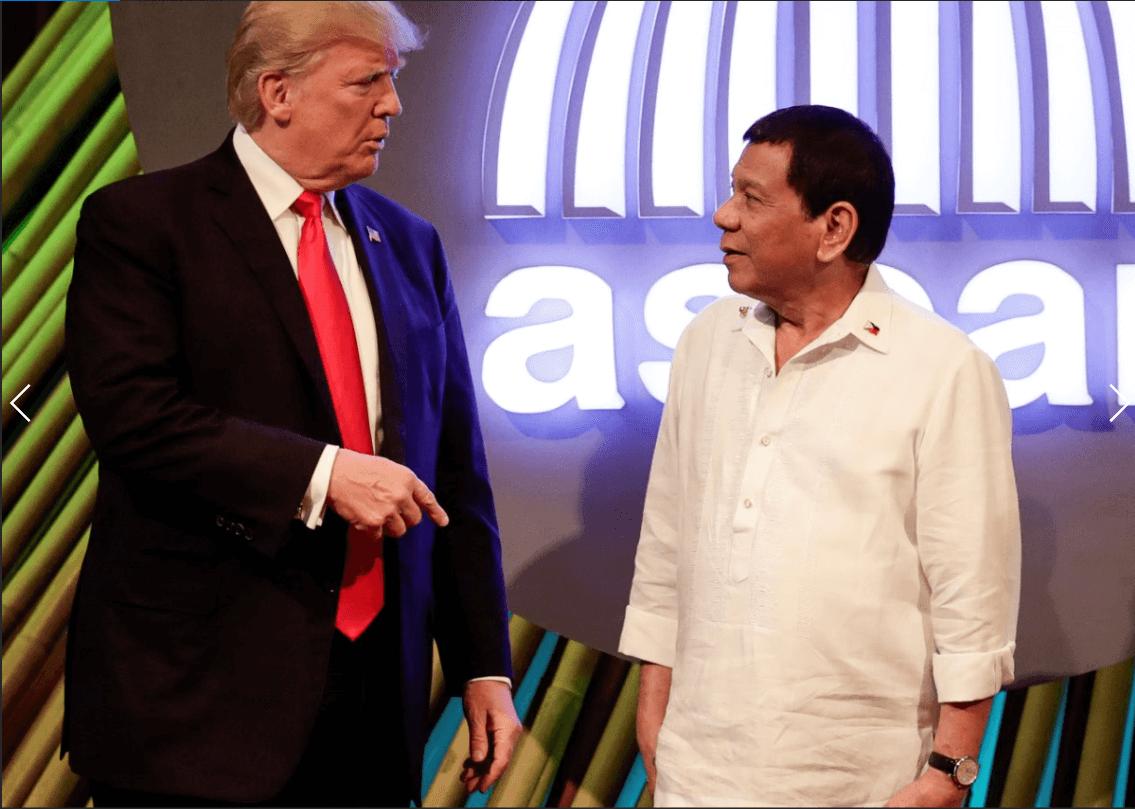 Donald Trump y Rodrigo Duterte en Filipinas.