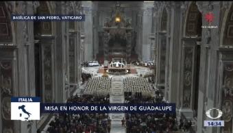 Papa Celebra Misa Honor Virgen Guadalupe