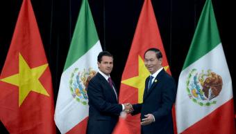 Enrique Peña Nieto se reúne con su homólogo vietnamita, Trần ại Quang