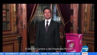 Enrique Peña Nieto reconoce el Día del Cartero