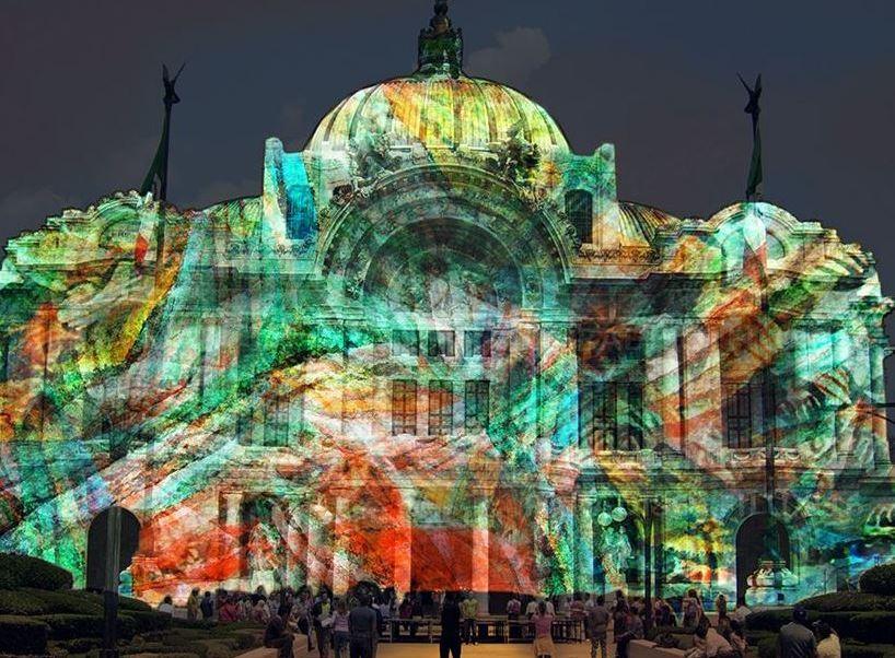 festival de las luces en calles de la ciudad de méxico